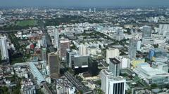 Bangkok city Aerial view Stock Footage