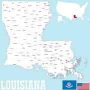 Louisiana county map Piirros