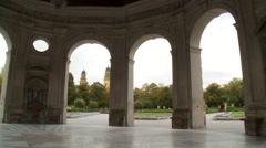 Hofgarten Court Garden rotunda in Munich Germany, pan left Stock Footage