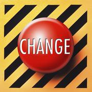 Change button - stock illustration