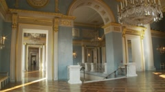 Munich Opera House, Bavarian National Theater, time lapse through foyer - stock footage