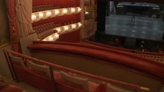 Munich Opera, Bavarian National Theater, King Ludwig Royal Box seats Stock Footage