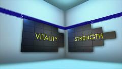 HEALTH Keywords in Monitors and Room, Loop, 4k Stock Footage