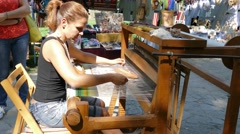 Antique loom Stock Footage