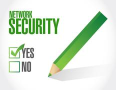 network security approval sign concept - stock illustration