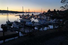 Salt Spring Dawn, British Columbia Stock Photos