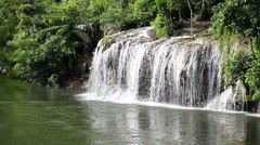 Deep forest waterfall Saiyog in Kanjanaburi Thailand - stock footage