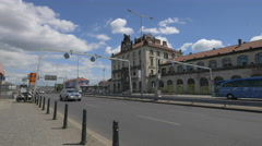 The Main Railway Station building in Prague Stock Footage
