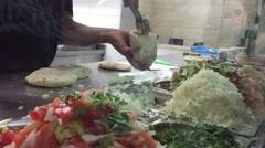 Falafel Middle Eastern shop Stock Footage