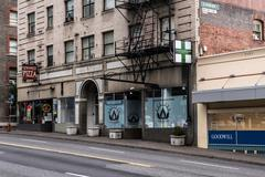 Cannabis Retail Storefront Portland - stock photo