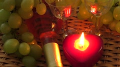 Drink. Delicious wine on the table - stock footage