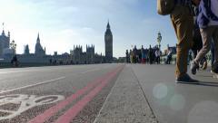 Big Ben from Westminster Bridge Stock Footage