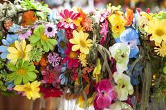 Vintage flowers tiara - stock photo