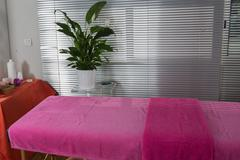 Stock Photo of Beautiful massage room in a spa saloon