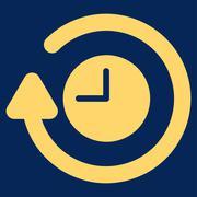Stock Illustration of Repeat Clock Icon