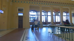 Inside the Main Railway Station, Prague Stock Footage