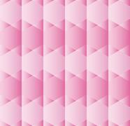 Abstract background with hexagons in various shades of pink Stock Illustration