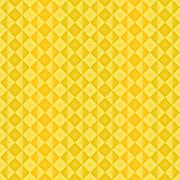 Abstract ethnic pattern with alternate brown ad yellow diamonds antique effect - stock illustration