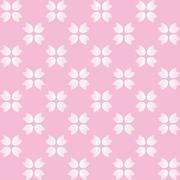 Florlal pattern with pink and white flowers on pink background Stock Illustration