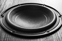 Loudspeaker on black background Stock Photos