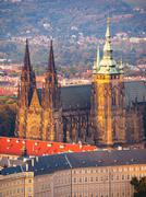 St. Vitus Cathedral on Prague Castle Stock Photos