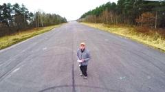 Drone pilot. Stock Footage