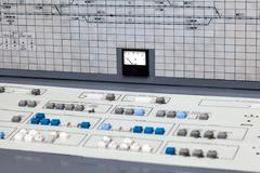 the control panel - stock photo