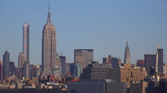 Midtown Manhattan in New York featuring the Empire State Building. Stock Footage