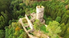 The Gutstejn Castle. Stock Footage