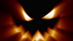 Halloween jack-o-lantern evil spooky scary horror face Stock Footage