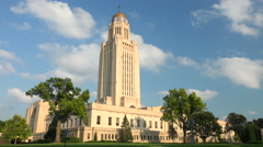 Stock Video Footage of Nebraska State Capitol Building In Lincoln