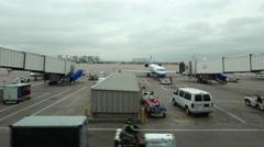 Airport Timelapse Denver Runway - stock footage
