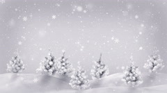 snow covered trees christmas animation loop 4k (4096x2304) - stock footage