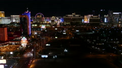 Las Vegas Strip Timelapse From 55th Floor Stock Footage