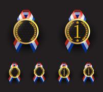 blank medallion award - stock illustration