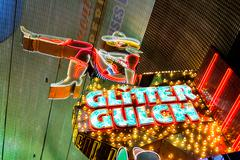 Glitter Gulch Neon Sign Las Vegas - stock photo