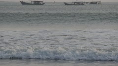 Big rolling surf in sea,Pangandaran,Java,Indonesia Stock Footage