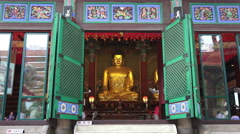 Buddha Statue Jogyesa Temple In Seoul South Korea Stock Footage