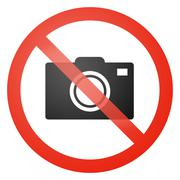 No photos allowed sign Stock Illustration