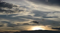 4K Time lapse of Sunset light with clouds - stock footage