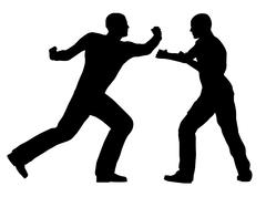 Fight Scene - stock illustration