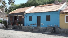 Houses from Cape Verde Africa - stock footage