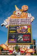 Circus Circus Sign Las Vegas - stock photo