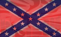 Blood Soaked Confederate Flag - stock illustration