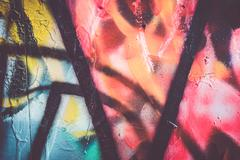 Vibrant abstract graffiti colors Stock Photos