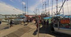 Fish Market, sunny day - stock footage