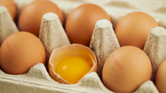Eggs in a box Stock Footage