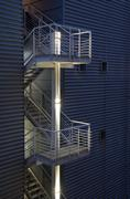 Stock Photo of Safety exit emergency metal modern stair