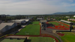 Aerial Oregon Eugene Stock Footage