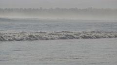 Rough rolling surf in sea,Pangandaran,Java,Indonesia - stock footage
